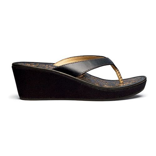 Womens OluKai Kaula Lio Sandals Shoe - Black/Black 6