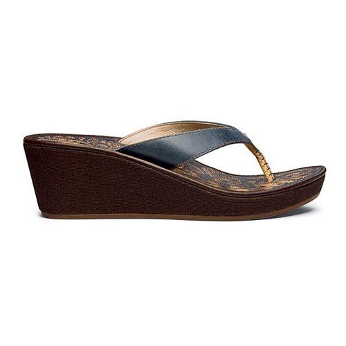 Womens OluKai Kaula Lio Sandals Shoe - Pale Ocean/Dark Java 10