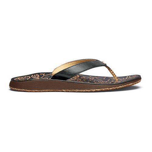 Womens OluKai Paniolo Hibiscus Sandals Shoe - Indigo/Hibiscus 11