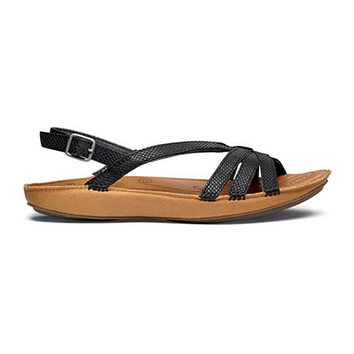 Womens OluKai Le'ale'a Sandals Shoe - Black/Natural 11