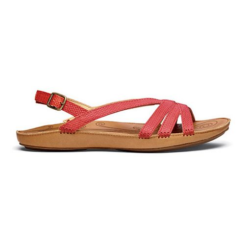 Womens OluKai Le'ale'a Sandals Shoe - Cinder/Natural 6