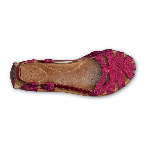 Womens OluKai Ulana Sandals Shoe - Beet Red/Tan 5