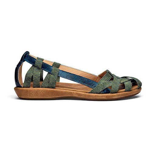 Womens OluKai Ulana Sandals Shoe - Pale Ocean/Tan 11