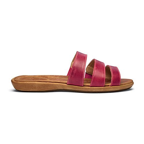 Womens OluKai Manana Sandals Shoe - Beet Red/Tan 9