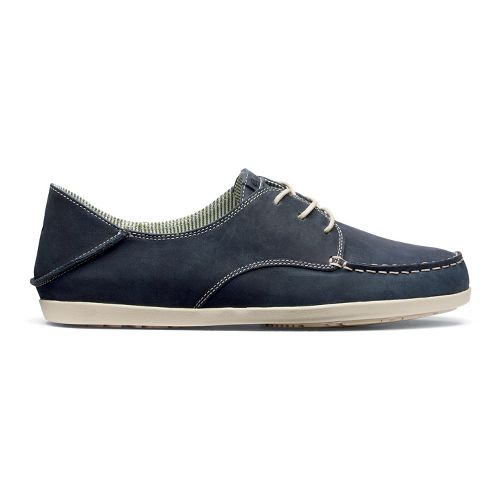 Womens OluKai Heleuma Leather Casual Shoe - Blue/Tapa 8.5