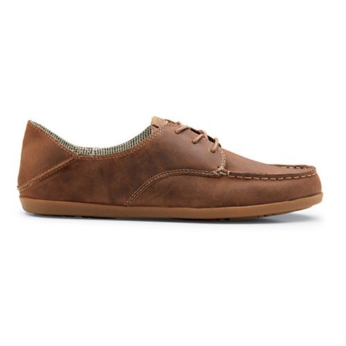Womens OluKai Heleuma Leather Casual Shoe - Henna/Silt 10