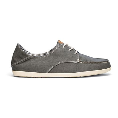 Womens OluKai Heleuma Canvas Casual Shoe - Charcoal/Off White 9