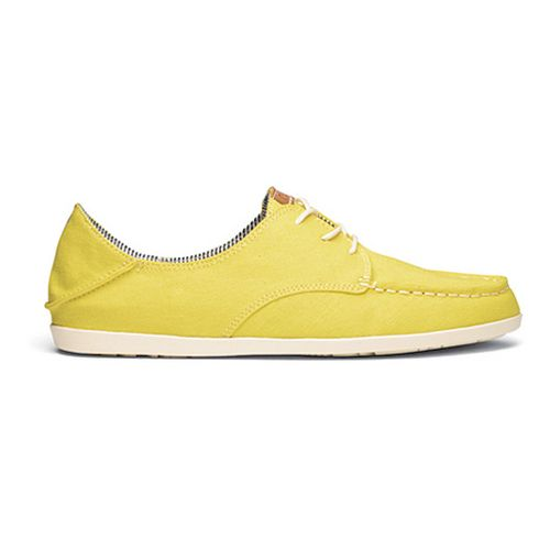 Womens OluKai Heleuma Canvas Casual Shoe - Lemon/Off White 5