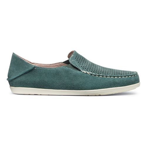 Womens OluKai Nohea Perf Casual Shoe - Malachite/Off White 7.5