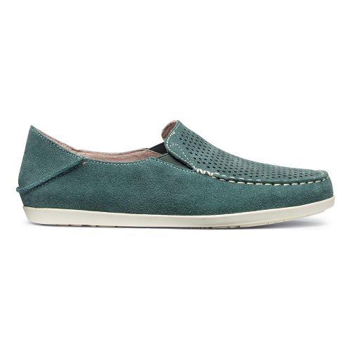 Womens OluKai Nohea Perf Casual Shoe - Malachite/Off White 8.5