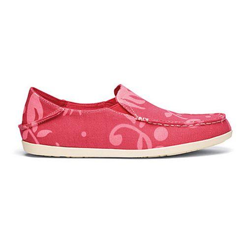 Womens OluKai Nohea Canvas Print Casual Shoe - Cinder/Guava 11