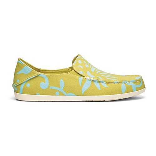 Womens OluKai Nohea Canvas Print Casual Shoe - Sulphur/Seaglass 6