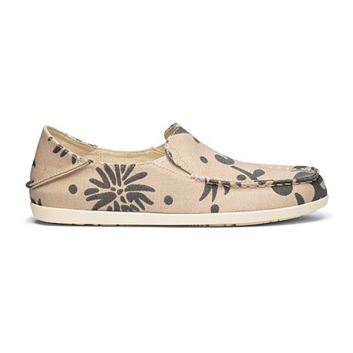 Womens OluKai Nohea Canvas Print Casual Shoe - Tapa/Charcoal 7.5