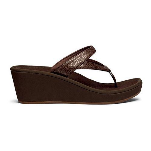Womens OluKai Kulapa Kai Wedge Sandals Shoe - Dark Java/Dark Java 7
