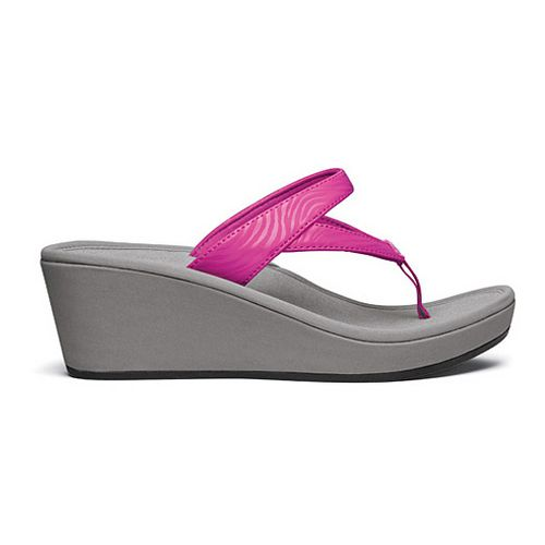 Womens OluKai Kulapa Kai Wedge Sandals Shoe - Orchid/Grey 5