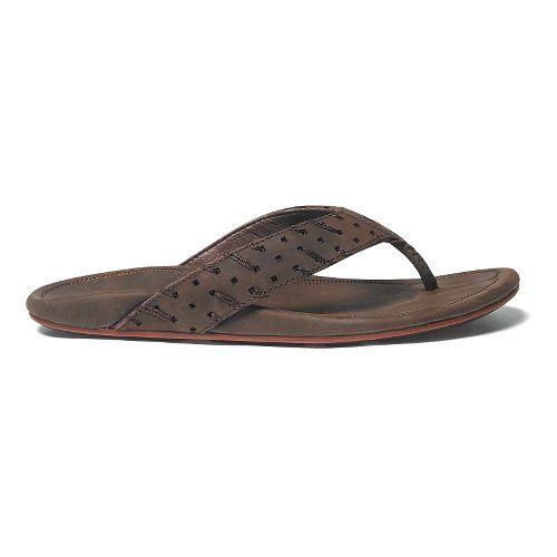 Mens OluKai Polani Sandals Shoe - Dark Java/Dark Java 7
