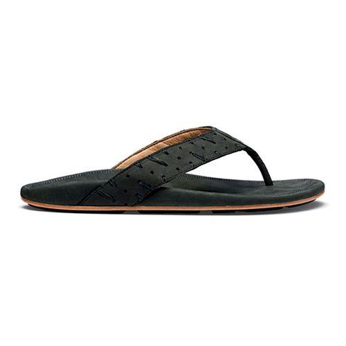 Mens OluKai Polani Sandals Shoe - Black/Black 8