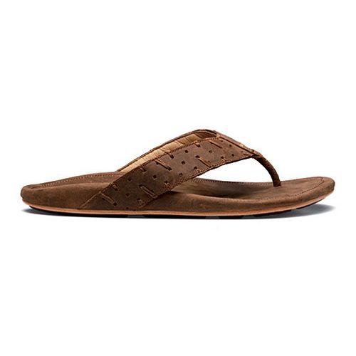 Mens OluKai Polani Sandals Shoe - Henna/Henna 9
