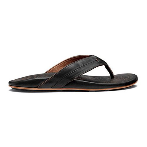 Womens OluKai Punono Sandals Shoe - Black/Black 8