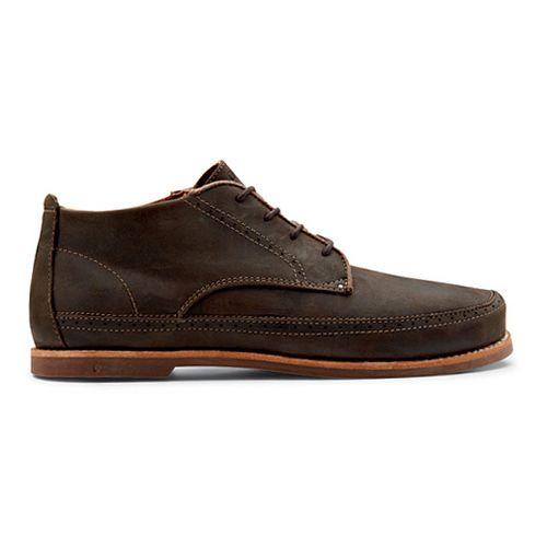 Mens OluKai Honolulu Boot Casual Shoe - Dark Wood/Mustang 7