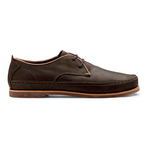 Mens OluKai Honolulu Lace Casual Shoe - Dark Wood/Mustang 12