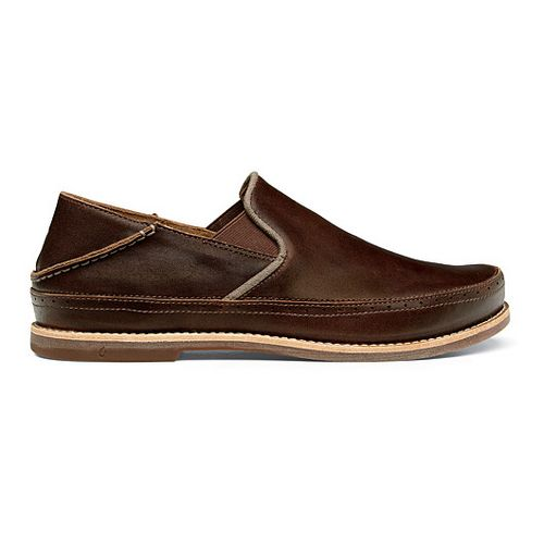 Mens OluKai Honolulu Slip-On Casual Shoe - Dark Wood/Mustang 14