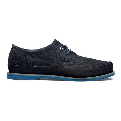 Mens OluKai Honolulu Lace Mesh Casual Shoe - Black/Marlin 8