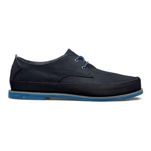 Mens OluKai Honolulu Lace Mesh Casual Shoe - Black/Marlin 9