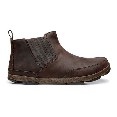 Mens OluKai Nanea Casual Shoe - Dark Wood/Dark Wood 14