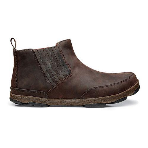 Mens OluKai Nanea Casual Shoe - Dark Wood/Dark Wood 8