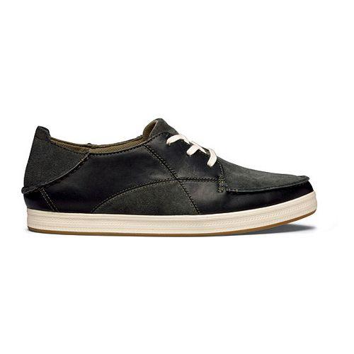 Mens OluKai Pahono Casual Shoe - Black/Dark Olive 11.5