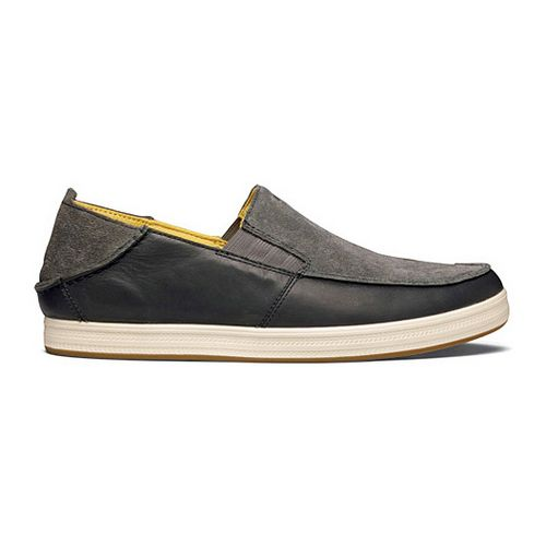 Mens OluKai Pahono Slip-On Casual Shoe - Charcoal Dark Shadow 10.5
