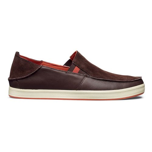 Mens OluKai Pahono Slip-On Casual Shoe - Coffee/Coffee 14