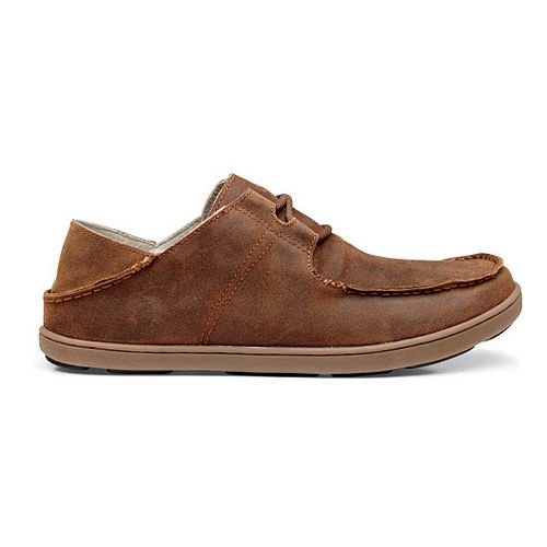 Mens OluKai Ohana Sneaker Suede Casual Shoe - Henna/Henna 10