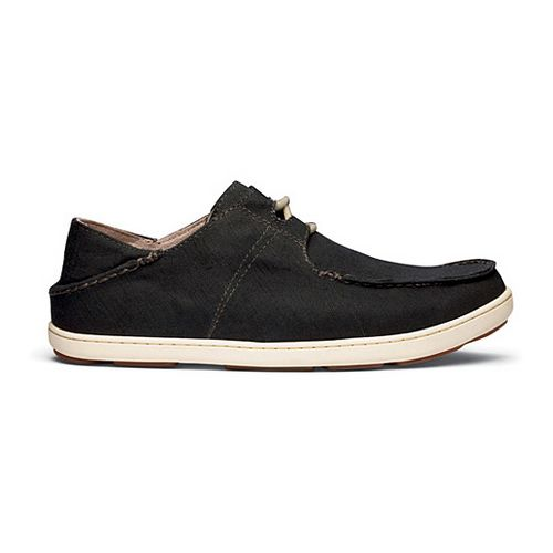 Mens OluKai Ohana Sneaker Twill Casual Shoe - Black/Black 10.5