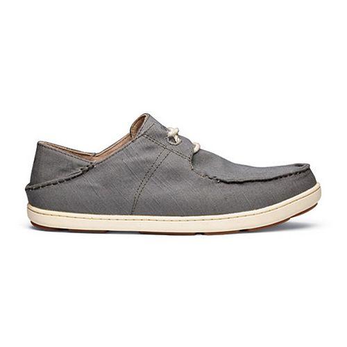 Mens OluKai Ohana Sneaker Twill Casual Shoe - Charcoal/Charcoal 9