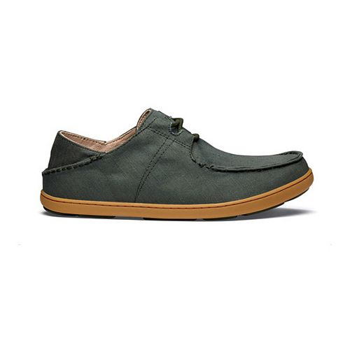 Mens OluKai Ohana Sneaker Twill Casual Shoe - Forest/Forest 13