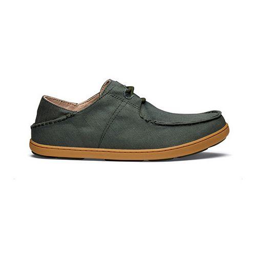 Mens OluKai Ohana Sneaker Twill Casual Shoe - Forest/Forest 8.5