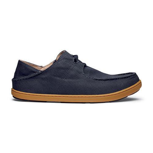 Mens OluKai Ohana Sneaker Twill Casual Shoe - Navy/Navy 10