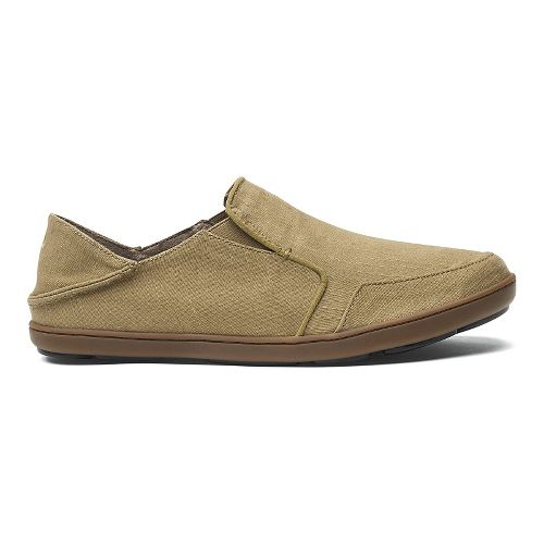 Mens OluKai Nohea Twill Casual Shoe - Khaki/Khaki 12
