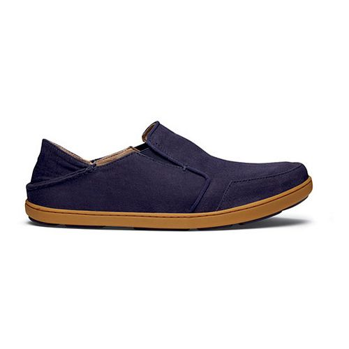 Mens OluKai Nohea Twill Casual Shoe - Deep Sea/Deep Sea 8