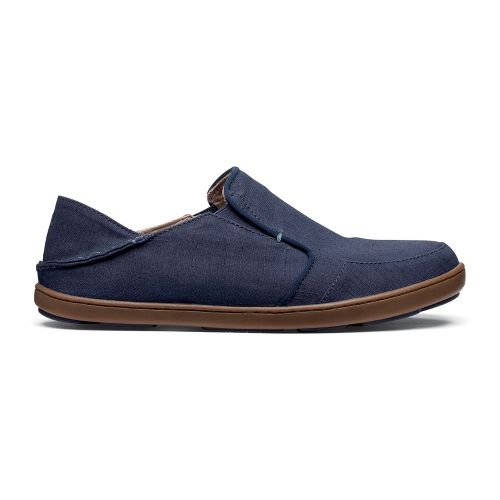 Mens OluKai Nohea Twill Casual Shoe - Trench Blue/Trench Blue 8
