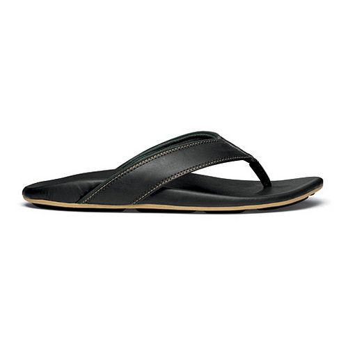 Mens OluKai Kikaha Sandals Shoe - Black/Rosin 14