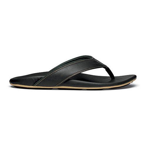 Mens OluKai Kikaha Sandals Shoe - Black/Rosin 8