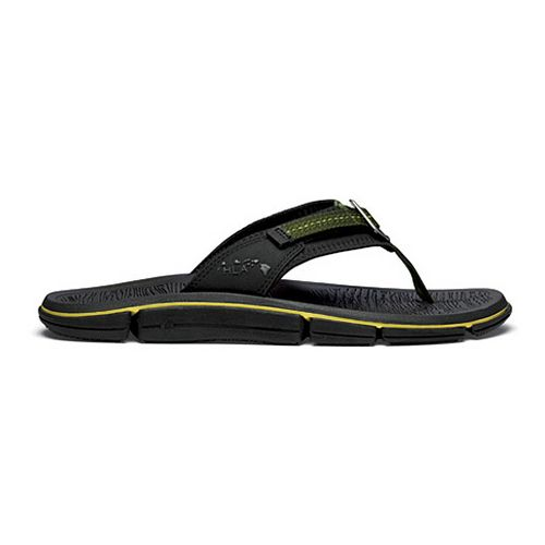 Mens OluKai Holomua Sandals Shoe - Black/Black 14