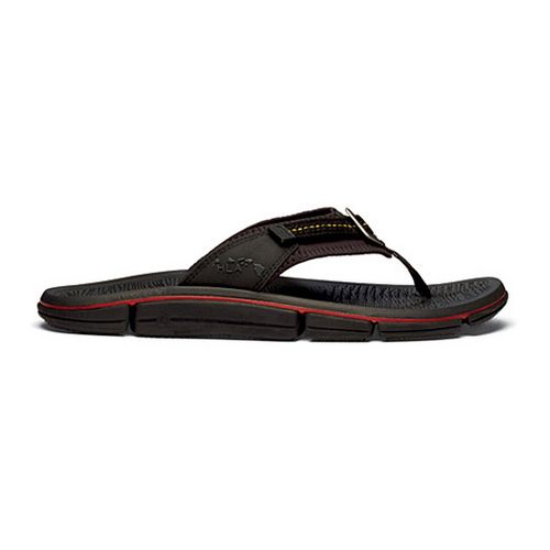 Mens OluKai Holomua Sandals Shoe - Black/Rosin 13