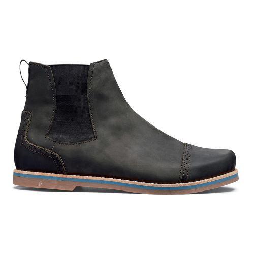 Mens OluKai Honolulu City Boot Casual Shoe - Black/Black 8