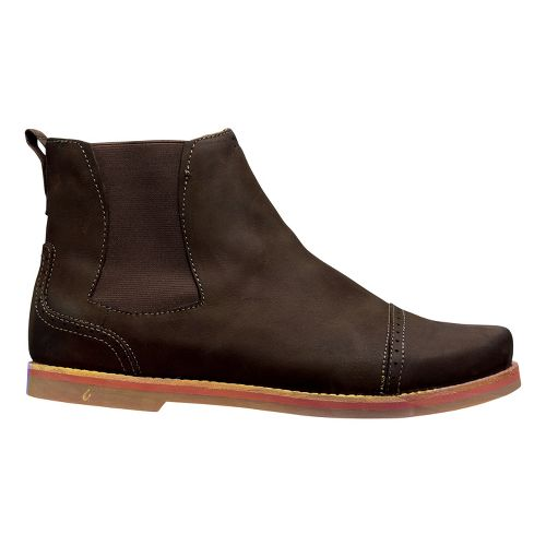 Mens OluKai Honolulu City Boot Casual Shoe - Dark Wood/Dark Wood 14