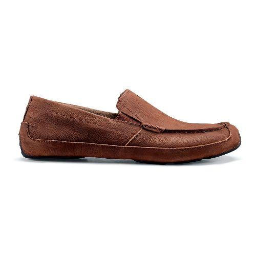 Mens OluKai Akepa Moc Casual Shoe - Rum/Rum 8.5