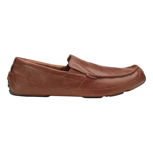 Mens OluKai Akepa Moc Casual Shoe - Saddle/Saddle 10